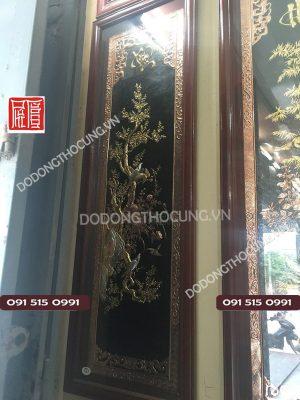 Bo Tranh Tu Quy Bang Dong Do Ma Vang 1m55