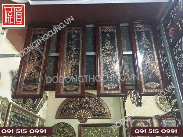 Bon Buc Tranh Tu Quy Xuan Ha Thu Dong 1m37