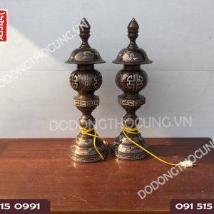 Doi Den Tho Cung Kham Ngu Sac 62cm