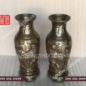 Lo Hoa Kham Bac Cao 36cm 1