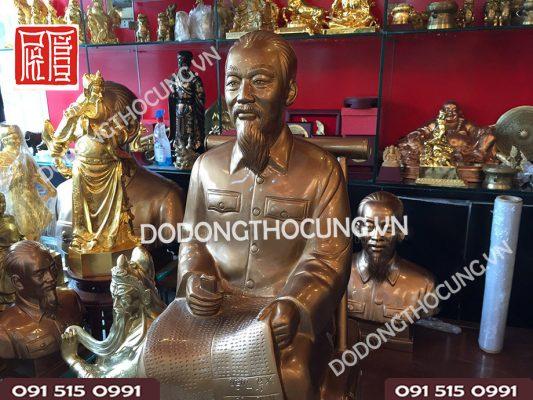 Pho Tuong Bac Ho Ngoi Doc Bao 60cm (2)