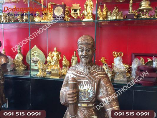 Pho Tuong Tran Hung Dao Kham Vang 50cm