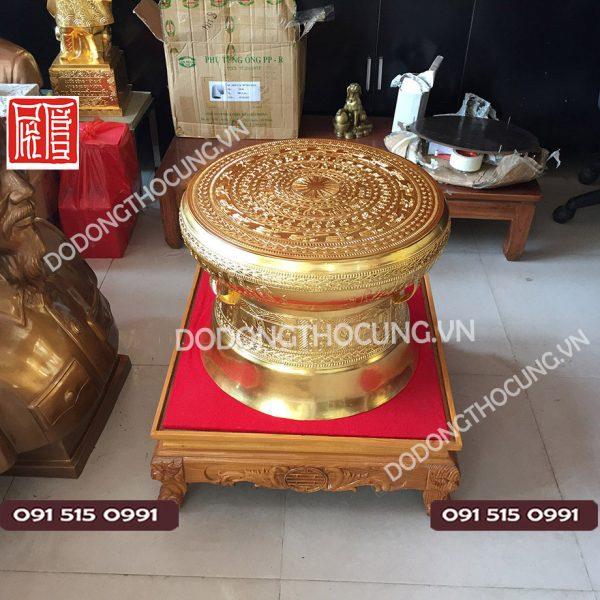 Qua Trong Dong Thep Vang 50cm