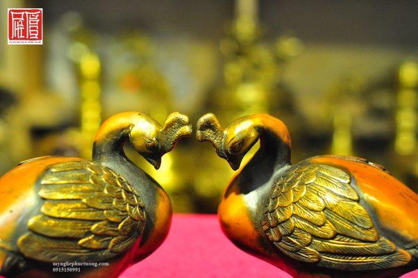 Tượng Chim Khổng Tước đồng Hun (1)