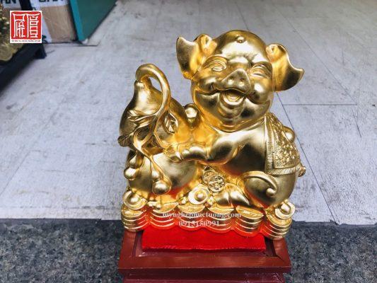 Tượng Heo Bằng đồng Dát Vàng 2 (3)