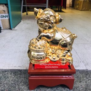 Tượng Heo Bằng đồng Mạ Vàng 5 (3)