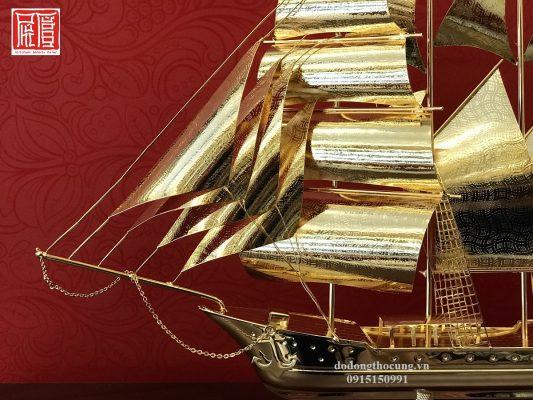 Thuyền Buồm Mạ Vàng To (1)