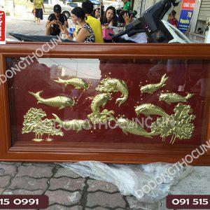 Tranh Ca Chep Bang Dong Khung Go Lat 1m5