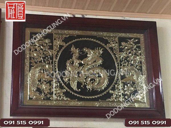 Tranh Chu Phuc Hoa Rong Khung Go Thit 90cm