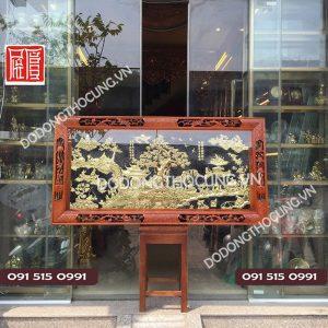 Tranh Dong Que Bang Dong Vang Khung Go Duc 1m55(2)