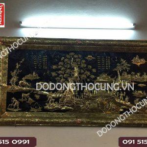Tranh Dong Que Khung Lien Dong 1m55