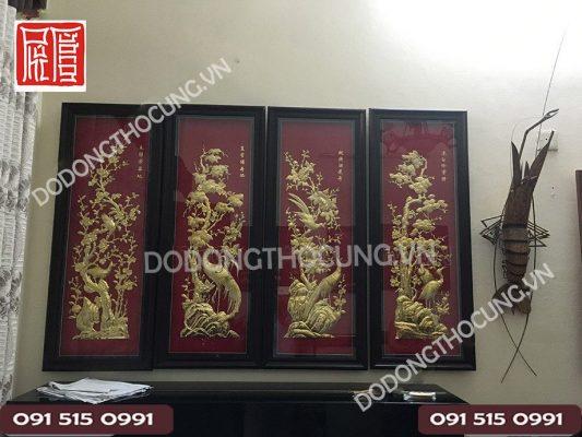Tranh Dong Tu Quy Nen Do