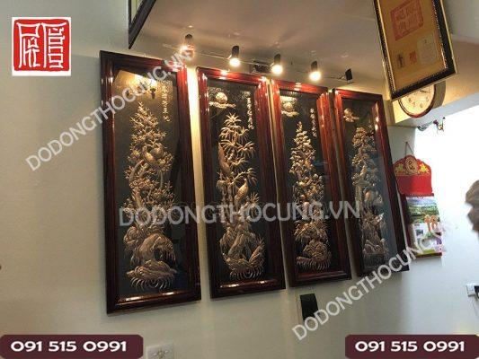 Tranh Dong Tu Quy Treo Phong Khach