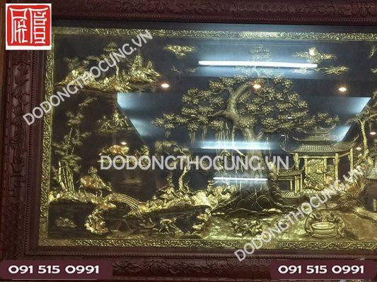 Tranh Phong Canh Dong Que Cao Cap Khung Go Gu(2)