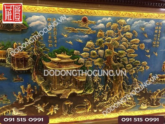 Tranh Phong Canh Dong Que Ve Son Dau 2m3 (3)