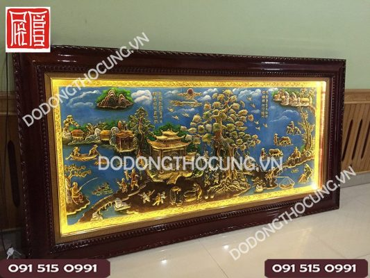 Tranh Phong Canh Dong Que Ve Son Dau 2m3 (7)