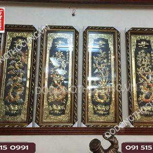 Tranh Tu Quy Bang Dong Hoa Rong 1m