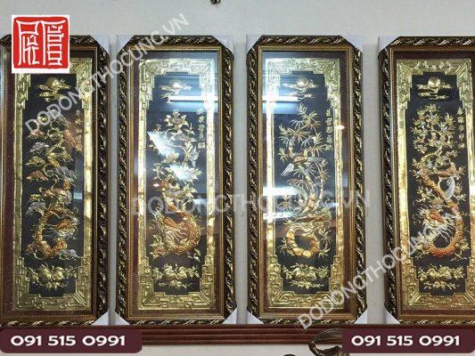 Tranh Tu Quy Bang Dong Hoa Rong 1m(3)