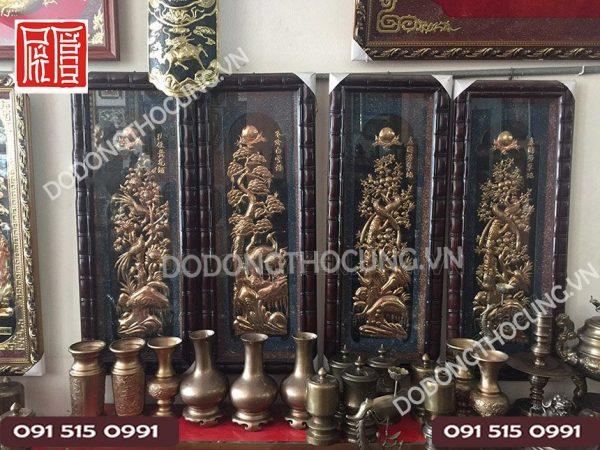 Tranh Tu Quy Dong Do Khung Dot Truc