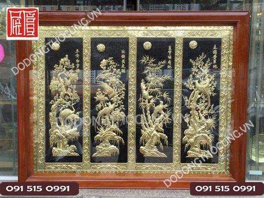 Tranh Tu Quy Tam Lien 1m4 2