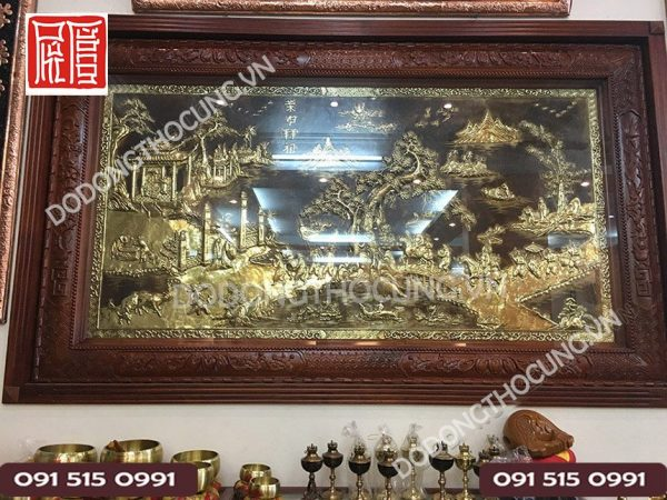 Tranh Vinh Quy Bai To Khung Tu Quy Go Gu 1m97
