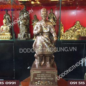 Tuong Cu Tran Quoc Tuan Kham Ngu Sac 50cm