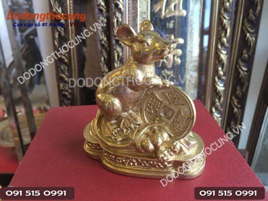 Tuong Dong Chuot Phong Thuy Loai Nho 10cm Nghieng