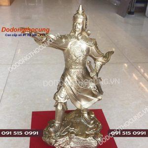 Tuong Dong Tran Hung Dao Dung Chi Tay Ra Tran 25cm