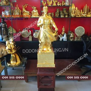 Tuong Dong Tran Quoc Tuan Thiep Vang Cao 90cm (2)