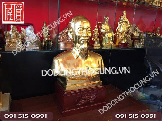 Tuong Nua Nguoi Bac Ho Dat Vang 60cm(4)
