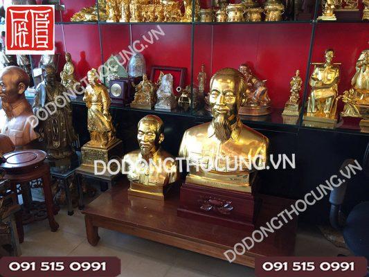 Tuong Nua Nguoi Bac Ho Dat Vang 60cm(6)