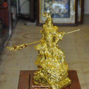 Tượng Quan Công Cưỡi Rồng Mạ Vàng (2)