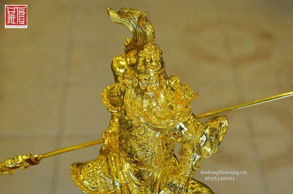 Tượng Quan Công Cưỡi Rồng Mạ Vàng (3)