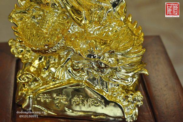 Tượng Quan Công Cưỡi Rồng Mạ Vàng (4)