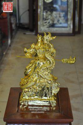 Tượng Quan Công Cưỡi Rồng Mạ Vàng (5)