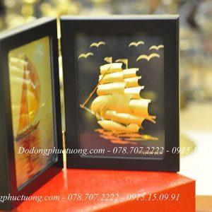 Khung ảnh Thuan Buom Xuoi Gio Dat Vang 24k